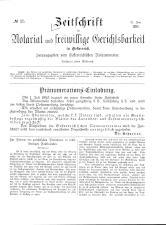 Zeitschrift für Notariat und freiwillige Gerichtsbarkeit in Österreich 18930621 Seite: 1