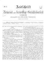 Zeitschrift für Notariat und freiwillige Gerichtsbarkeit in Österreich 18930719 Seite: 1