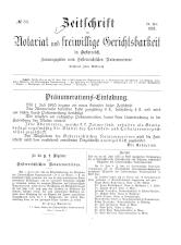 Zeitschrift für Notariat und freiwillige Gerichtsbarkeit in Österreich