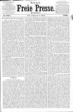 Neue Freie Presse 18680818 Seite: 1