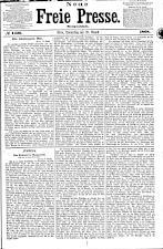Neue Freie Presse 18680820 Seite: 1