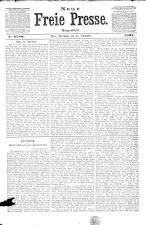 Neue Freie Presse 18911125 Seite: 1