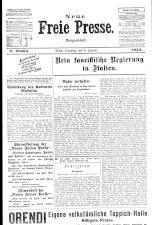 Neue Freie Presse 19250106 Seite: 1