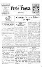 Neue Freie Presse 19250704 Seite: 1