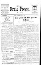 Neue Freie Presse 19250715 Seite: 1