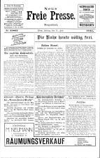 Neue Freie Presse 19250731 Seite: 1