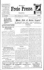 Neue Freie Presse 19251107 Seite: 1