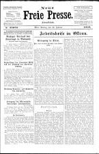 Neue Freie Presse 19260222 Seite: 1
