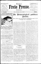 Neue Freie Presse 19260713 Seite: 1