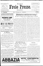Neue Freie Presse 19260907 Seite: 1