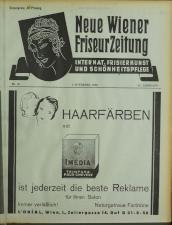 Neue Wiener Friseur-Zeitung 19381101 Seite: 1