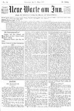 Neue Warte am Inn 18900329 Seite: 1