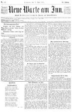 Neue Warte am Inn 18900412 Seite: 1