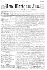 Neue Warte am Inn 18900621 Seite: 1