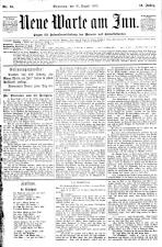 Neue Warte am Inn 18900830 Seite: 1