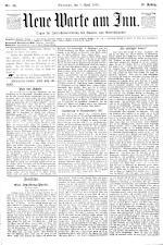 Neue Warte am Inn 18930408 Seite: 1
