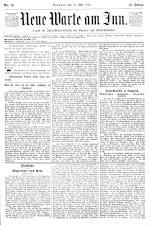 Neue Warte am Inn 18930513 Seite: 1