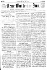 Neue Warte am Inn 18930624 Seite: 1