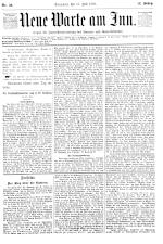 Neue Warte am Inn 18930715 Seite: 1