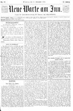 Neue Warte am Inn 18930916 Seite: 1