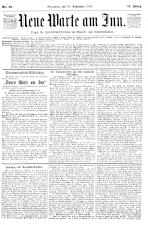 Neue Warte am Inn 18930930 Seite: 1