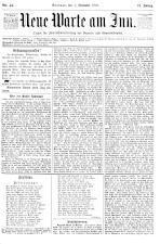 Neue Warte am Inn 18931104 Seite: 1