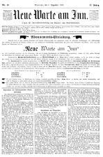 Neue Warte am Inn 18931209 Seite: 1