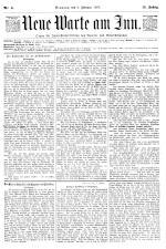 Neue Warte am Inn 18950209 Seite: 1
