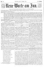 Neue Warte am Inn 18950427 Seite: 1