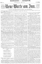 Neue Warte am Inn 18950504 Seite: 1