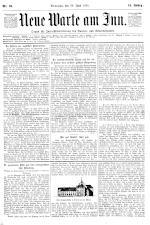 Neue Warte am Inn 18950629 Seite: 1