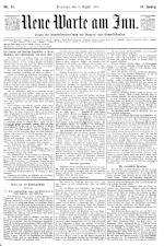 Neue Warte am Inn 18950803 Seite: 1