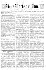 Neue Warte am Inn 18950810 Seite: 1
