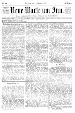 Neue Warte am Inn 18950907 Seite: 1
