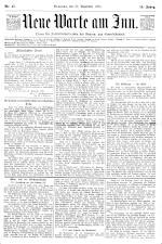 Neue Warte am Inn 18951123 Seite: 1