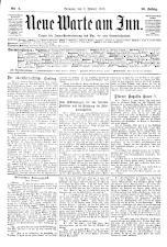 Neue Warte am Inn 19100108 Seite: 1