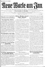 Neue Warte am Inn 19270708 Seite: 1