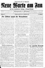 Neue Warte am Inn 19381110 Seite: 1