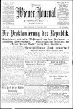 Neues Wiener Journal 19181113 Seite: 1
