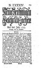 Neue Zeitungen von gelehrten Sachen (hrsg. Von Johann Gottlieb Krause)