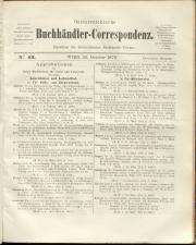 Oesterreichische Buchhändler-Correspondenz 18791025 Seite: 1