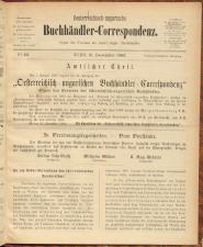 Oesterreichische Buchhändler-Correspondenz 18921231 Seite: 1