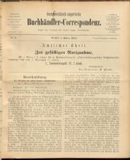 Oesterreichische Buchhändler-Correspondenz 18930304 Seite: 1