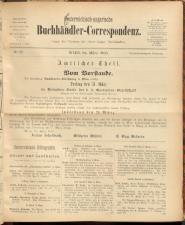 Oesterreichische Buchhändler-Correspondenz 18930324 Seite: 1