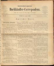 Oesterreichische Buchhändler-Correspondenz 18930415 Seite: 1