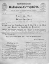 Oesterreichische Buchhändler-Correspondenz 19170808 Seite: 1