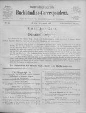 Oesterreichische Buchhändler-Correspondenz 19170815 Seite: 1