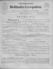 Oesterreichische Buchhändler-Correspondenz 19170822 Seite: 1