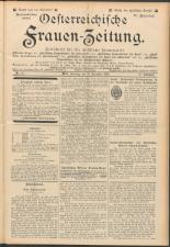 Oesterreichische Frauen-Zeitung