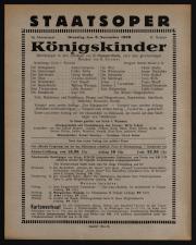 Theaterzettel des Hof-Operntheaters / Staatsoper (tit. fict.) 19381108 Seite: 1